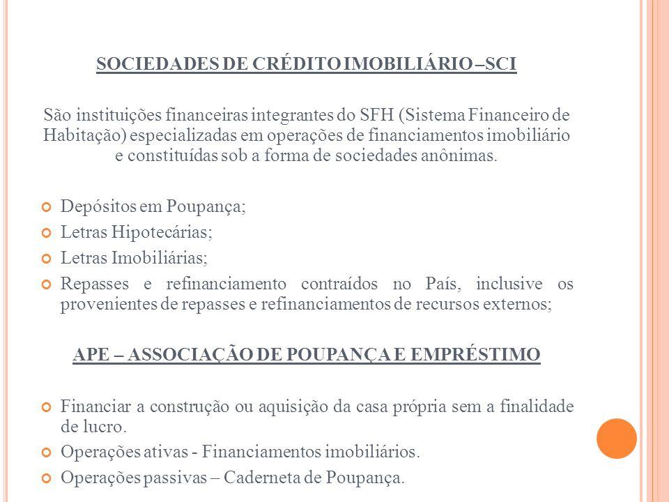 SOCIEDADES DE CRÉDITO IMOBILIÁRIO –SCI