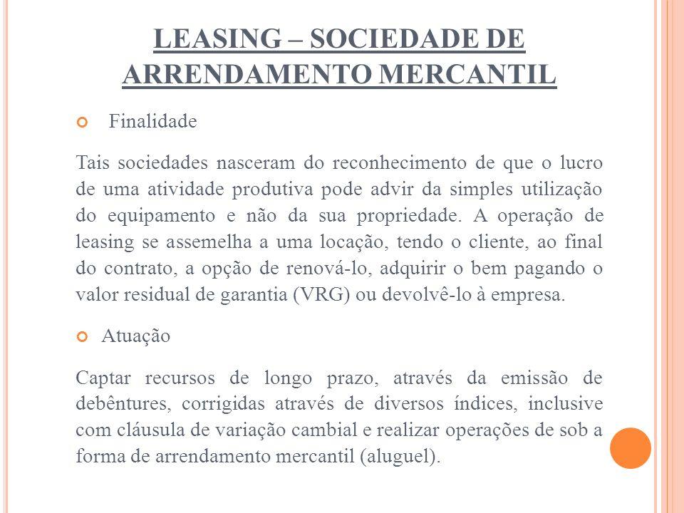 LEASING – SOCIEDADE DE ARRENDAMENTO MERCANTIL
