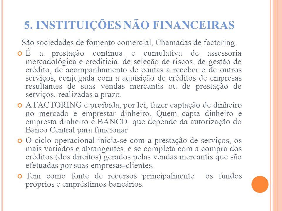 5. INSTITUIÇÕES NÃO FINANCEIRAS