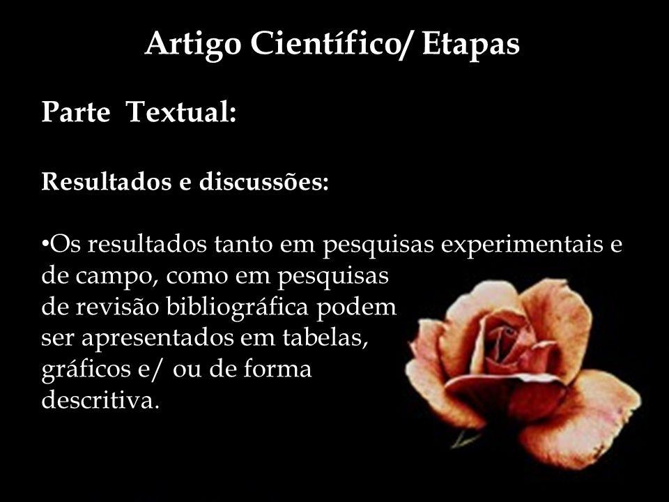 Artigo Científico/ Etapas