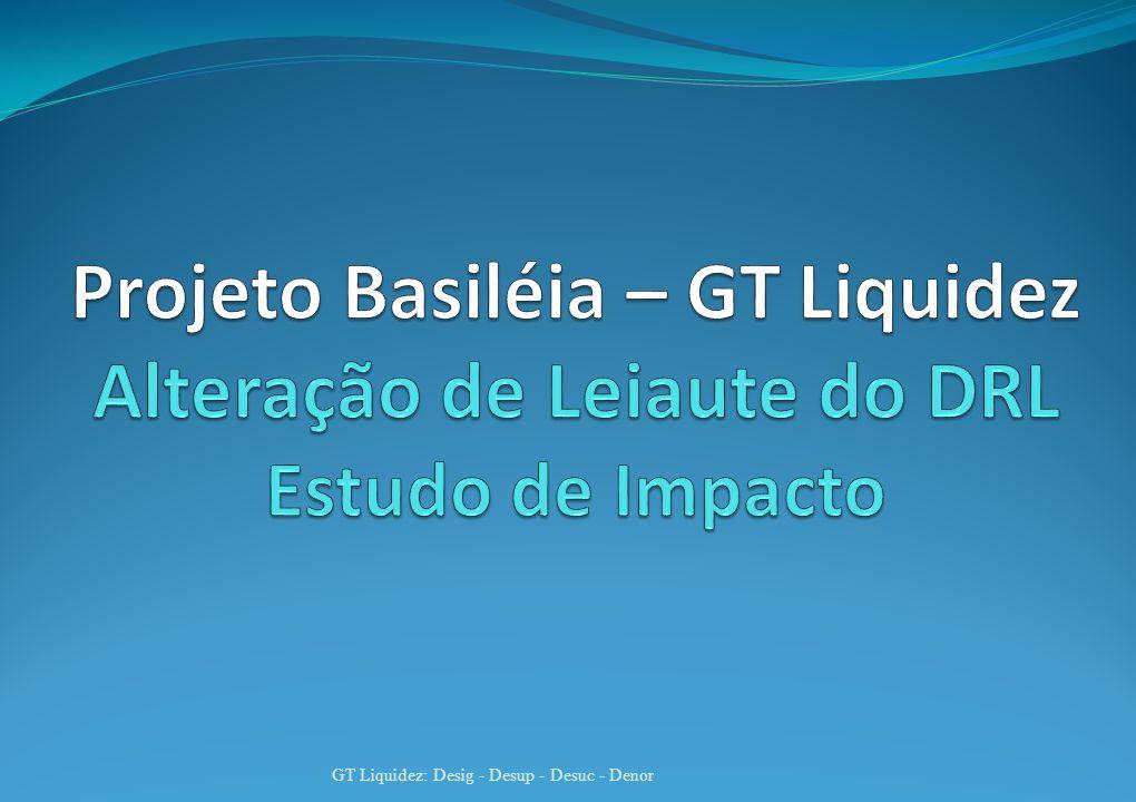 cEng Projeto Basiléia – GT Liquidez Alteração de Leiaute do DRL Estudo de Impacto.
