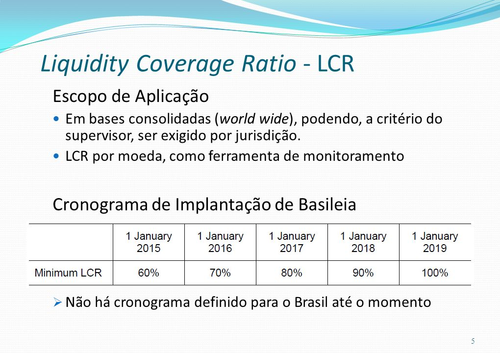 Liquidity Coverage Ratio - LCR