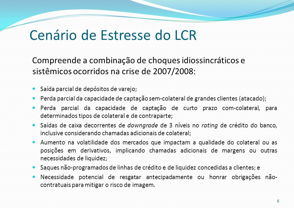 Cenário de Estresse do LCR