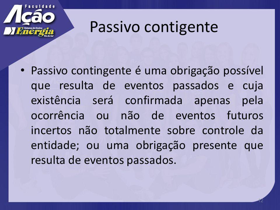 Passivo contigente