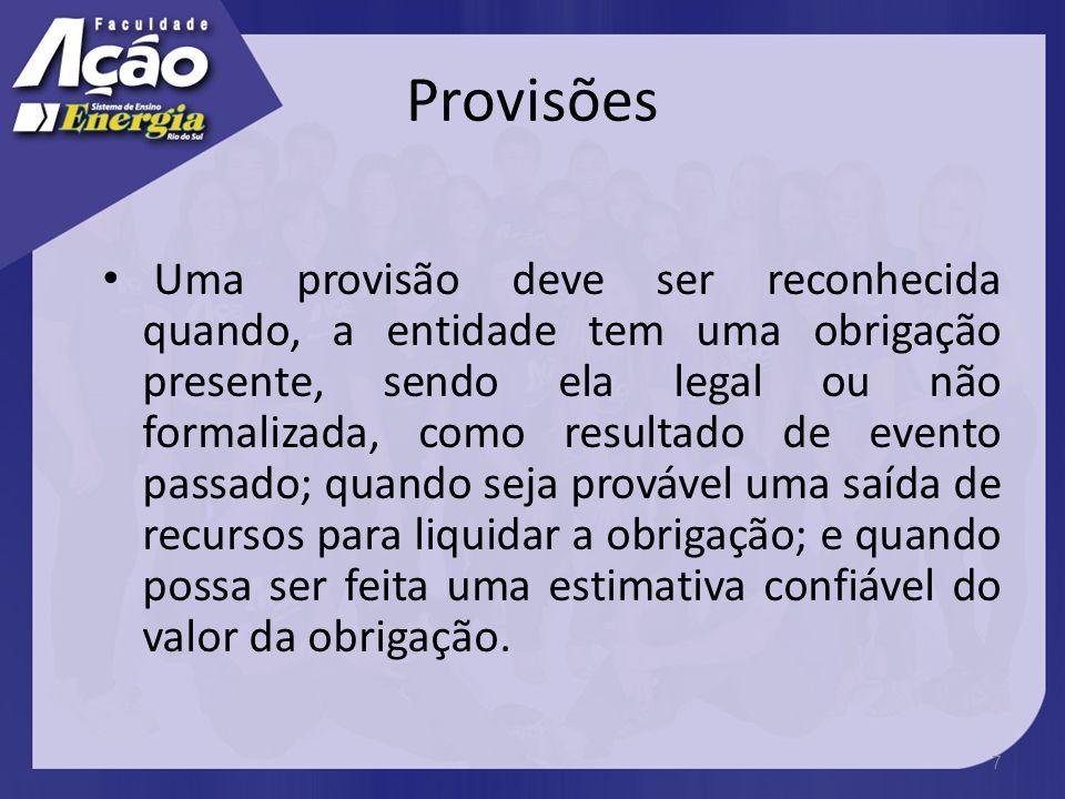 Provisões