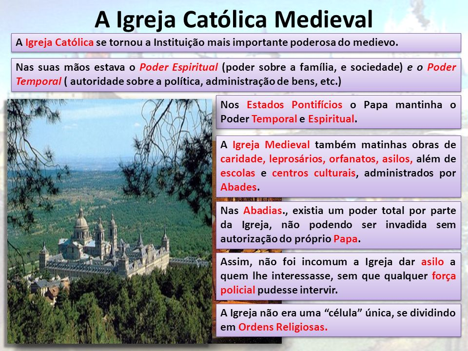 A Igreja Católica Medieval