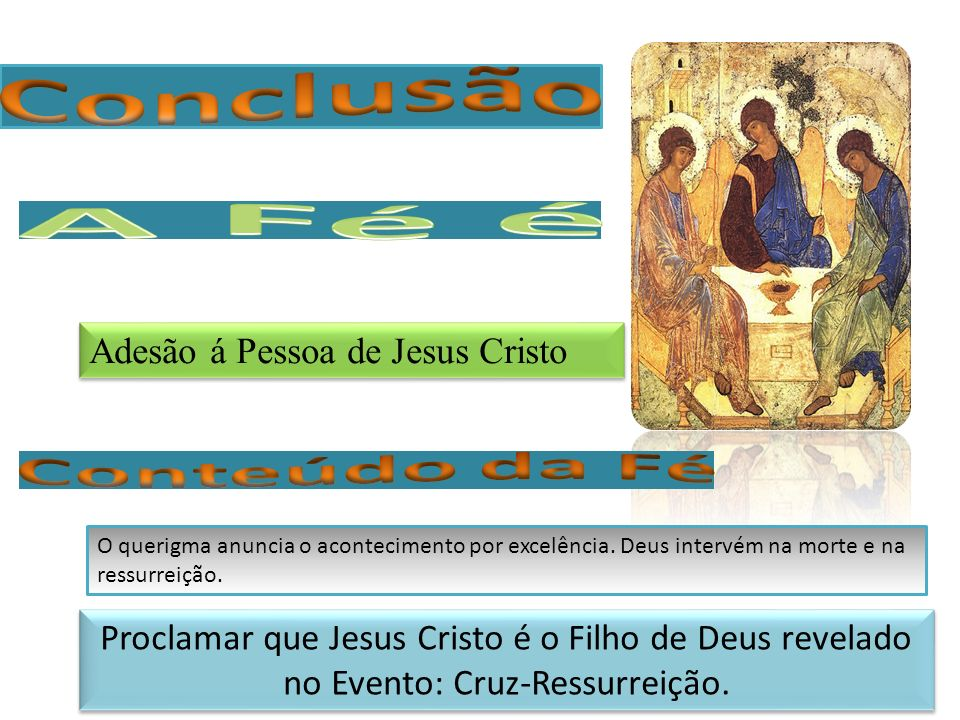 Conclusão Adesão á Pessoa de Jesus Cristo