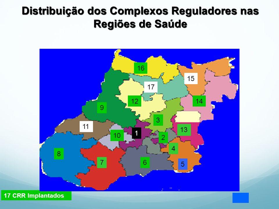 Distribuição dos Complexos Reguladores nas Regiões de Saúde