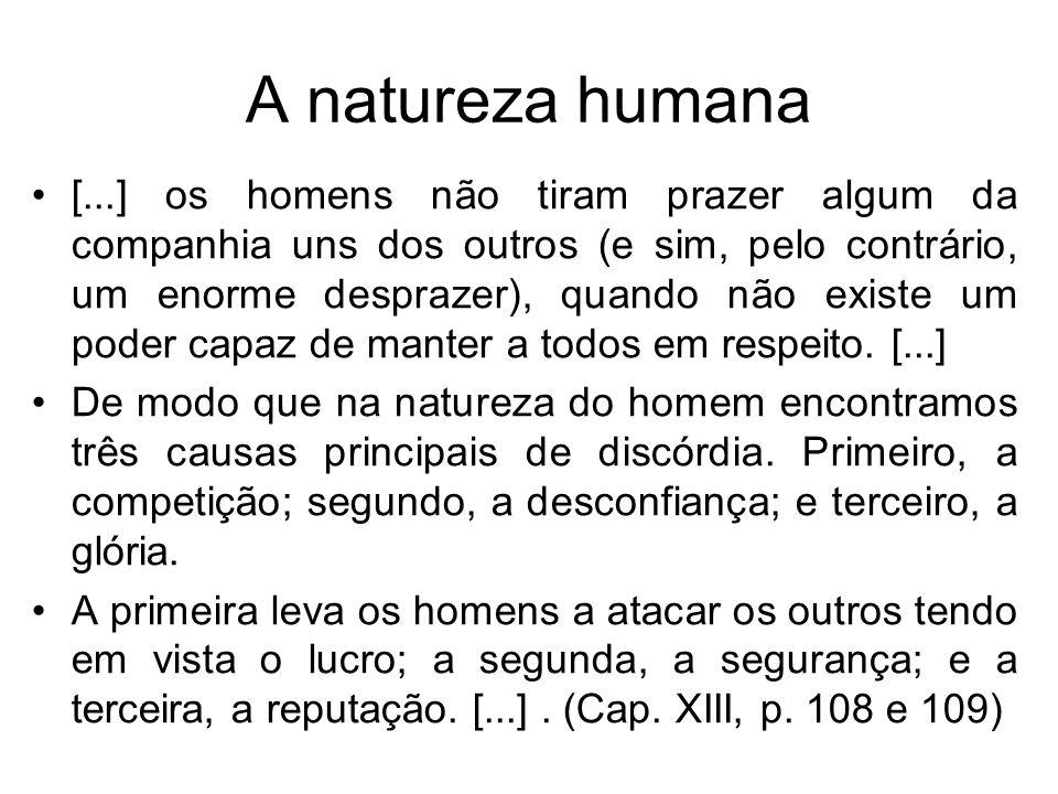 A natureza humana