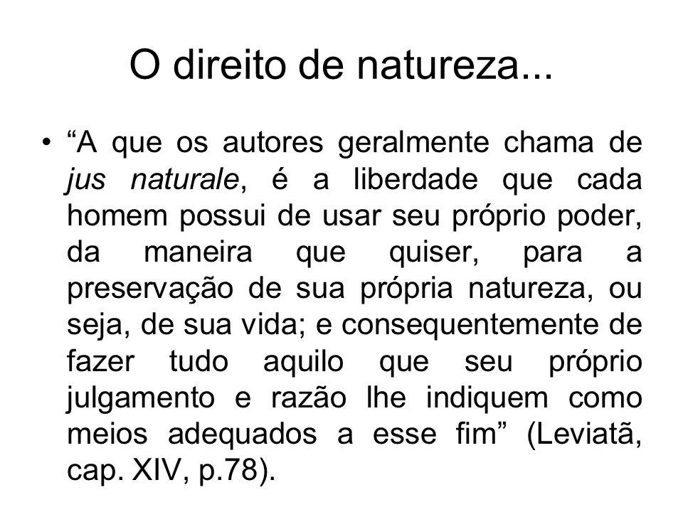 O direito de natureza...