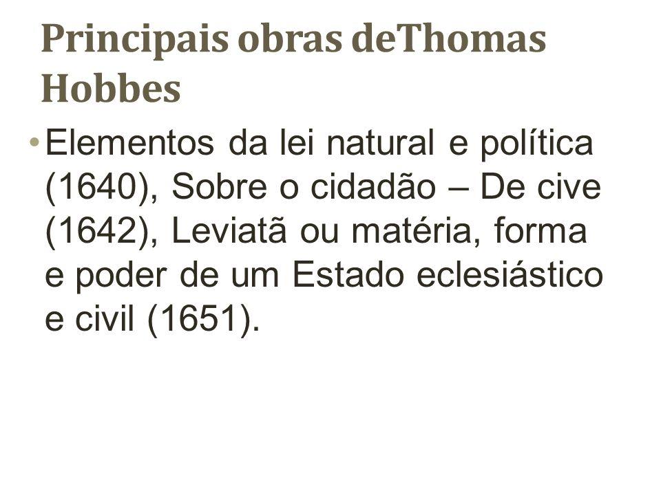 Principais obras deThomas Hobbes