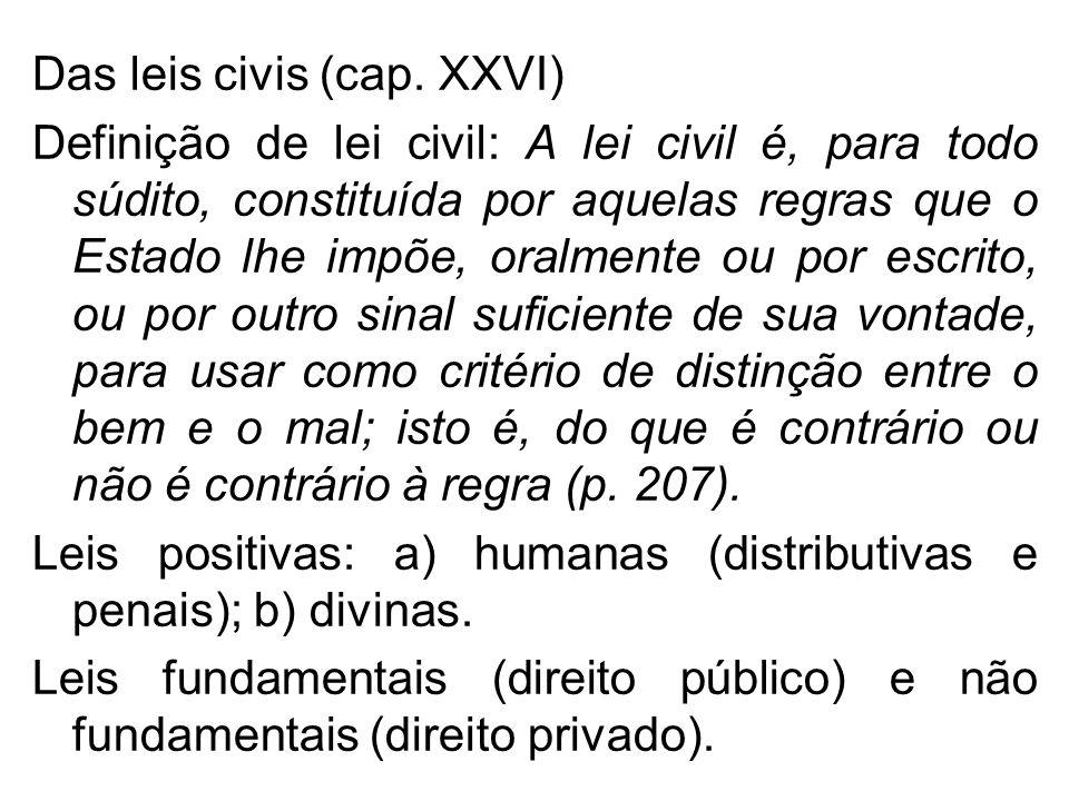 Das leis civis (cap. XXVI)