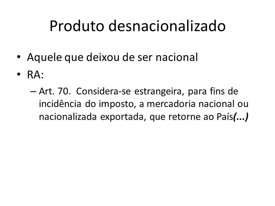 Produto desnacionalizado