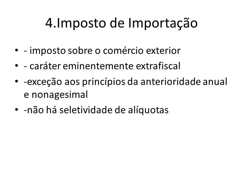 4.Imposto de Importação - imposto sobre o comércio exterior