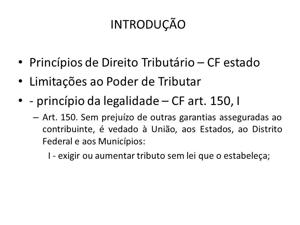 Princípios de Direito Tributário – CF estado