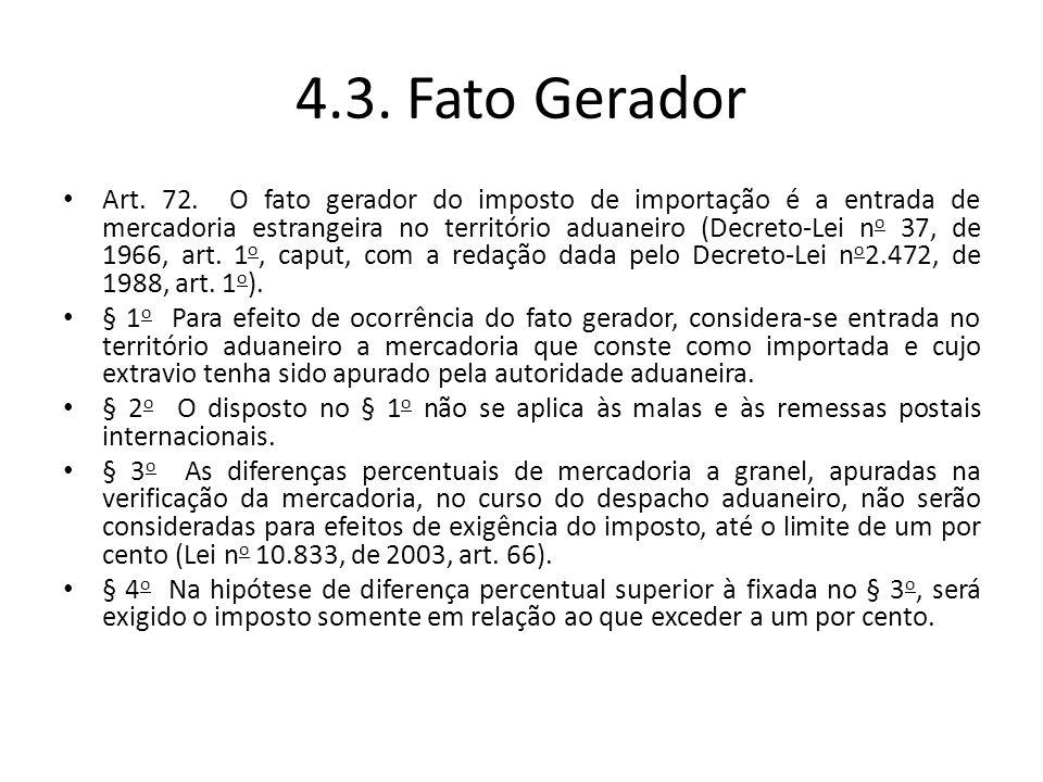 4.3. Fato Gerador