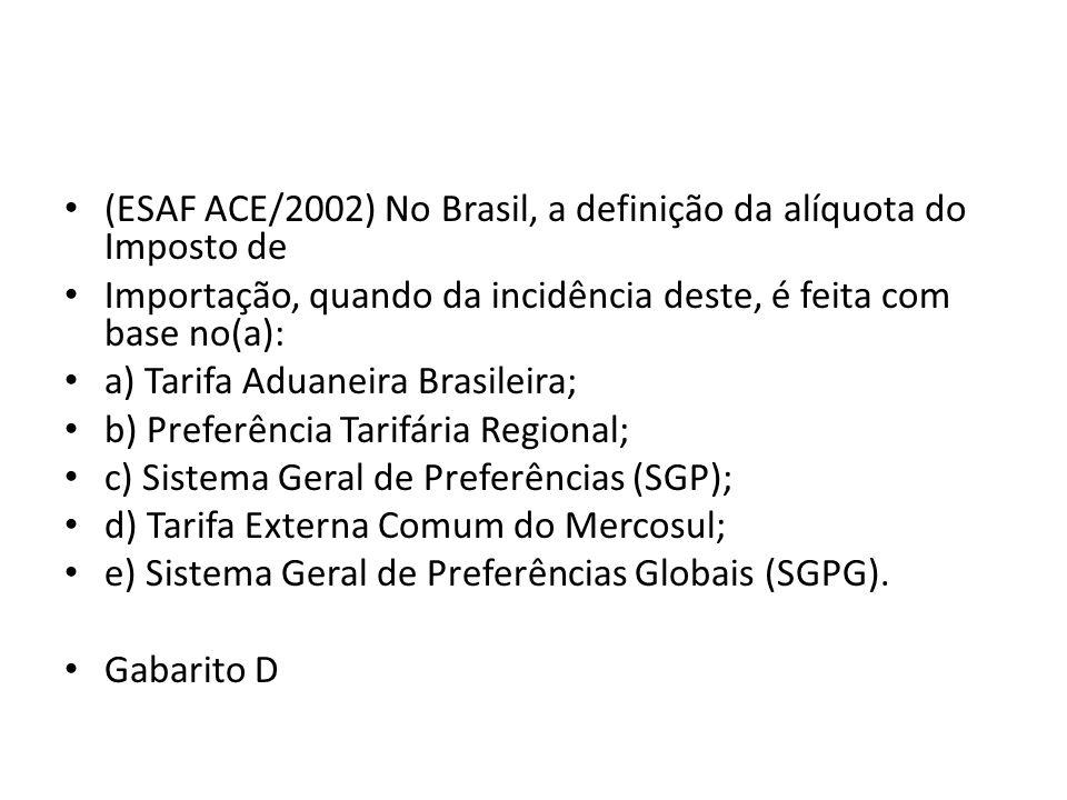 (ESAF ACE/2002) No Brasil, a definição da alíquota do Imposto de