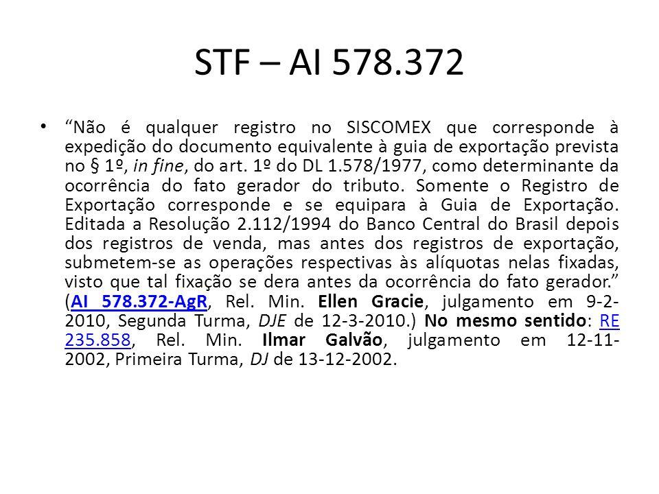 STF – AI 578.372