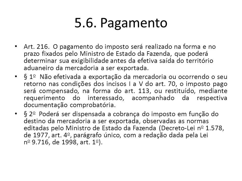5.6. Pagamento