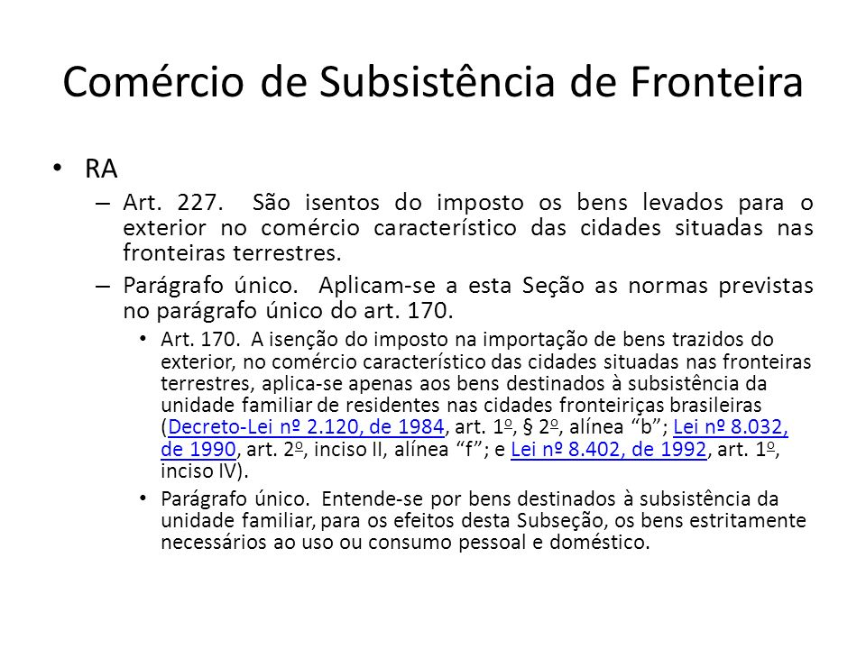 Comércio de Subsistência de Fronteira
