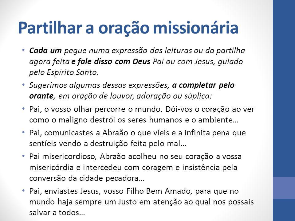 Partilhar a oração missionária