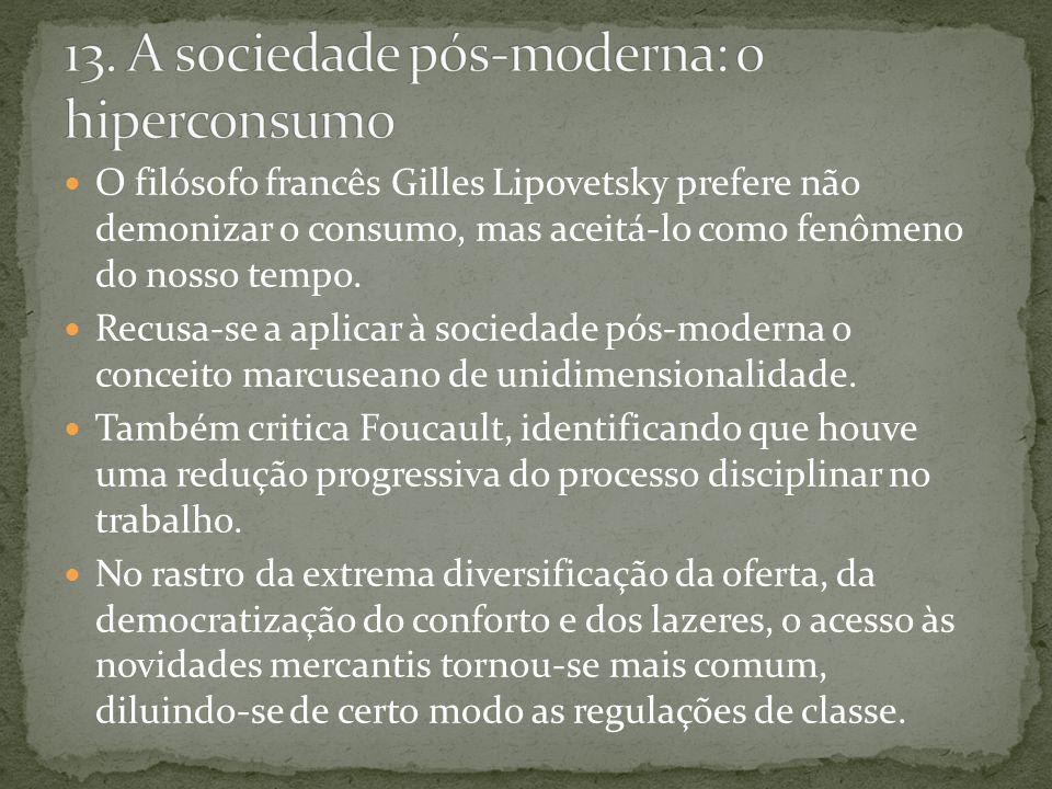 13. A sociedade pós-moderna: o hiperconsumo