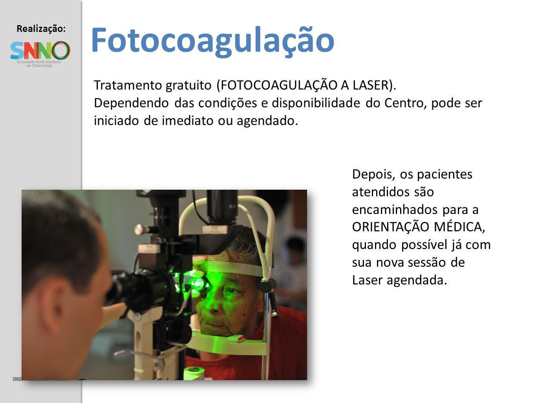 Fotocoagulação Tratamento gratuito (FOTOCOAGULAÇÃO A LASER).