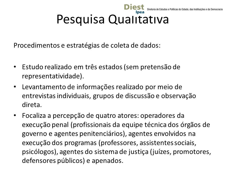 Pesquisa Qualitativa Procedimentos e estratégias de coleta de dados: