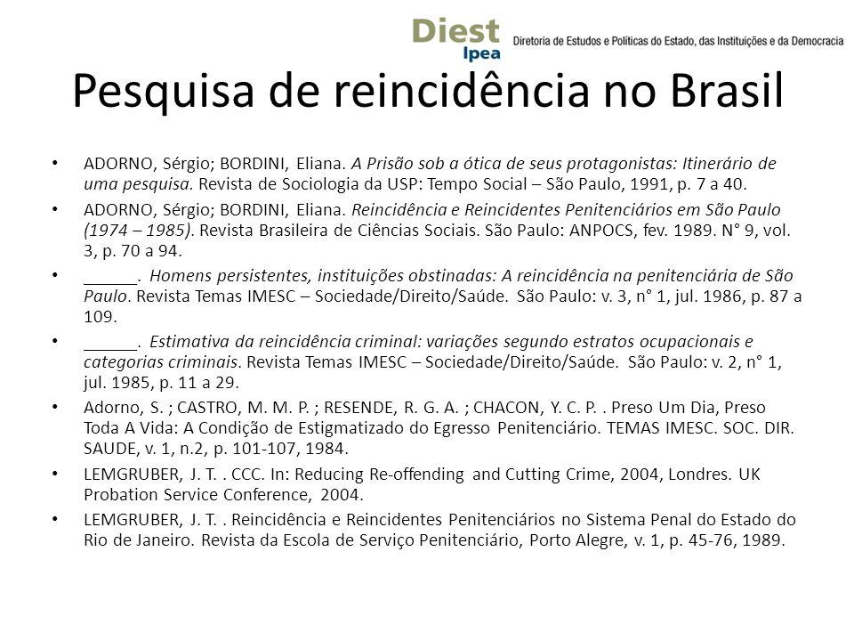 Pesquisa de reincidência no Brasil