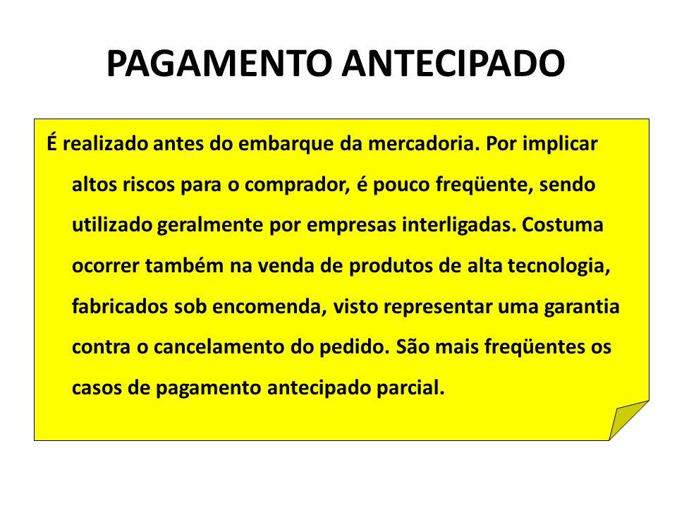 PAGAMENTO ANTECIPADO