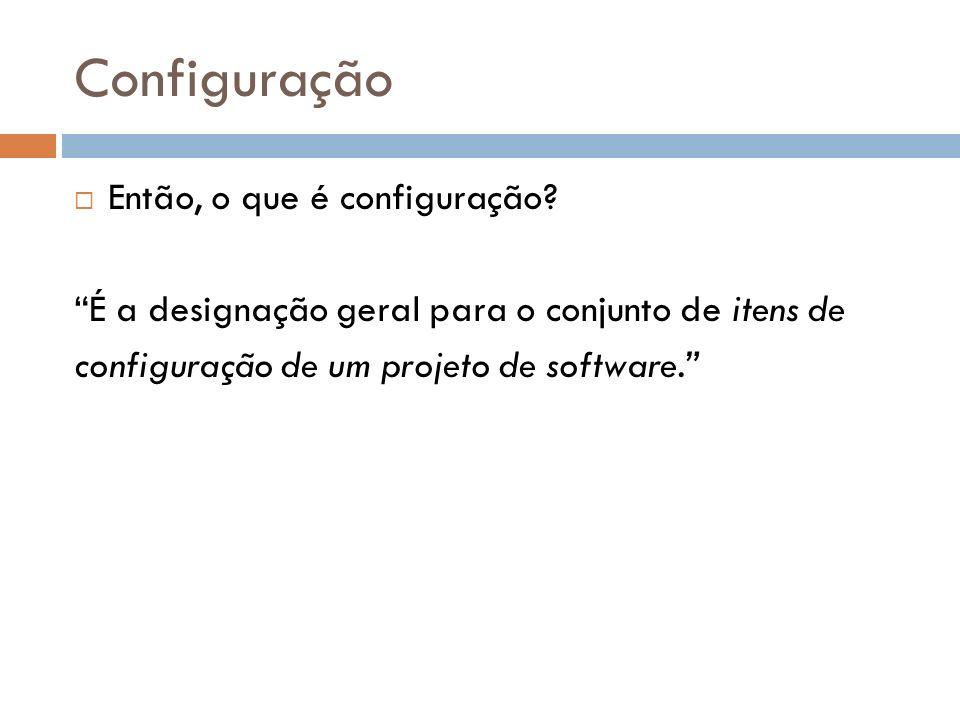 Configuração Então, o que é configuração