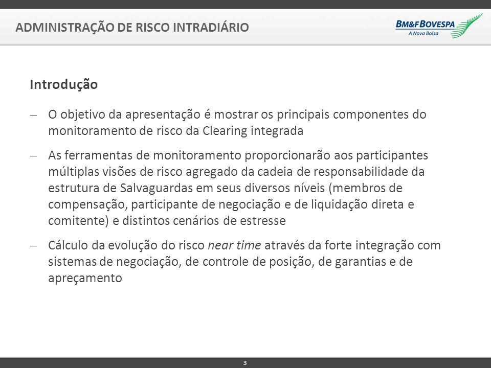 Introdução ADMINISTRAÇÃO DE RISCO INTRADIÁRIO