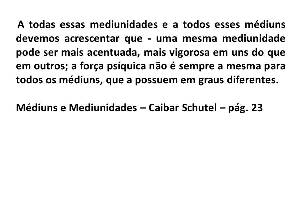 Médiuns e Mediunidades – Caibar Schutel – pág. 23