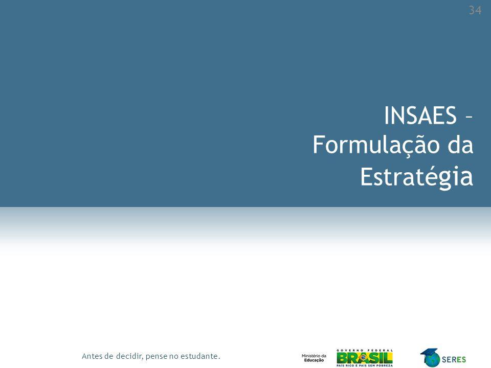 INSAES – Formulação da Estratégia
