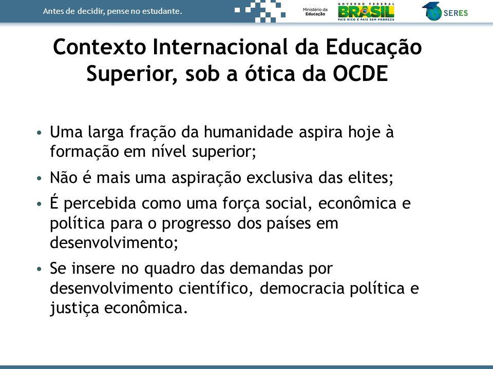 Contexto Internacional da Educação Superior, sob a ótica da OCDE