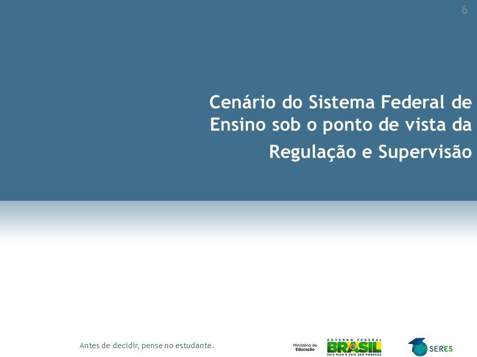 Cenário do Sistema Federal de Ensino sob o ponto de vista da Regulação e Supervisão