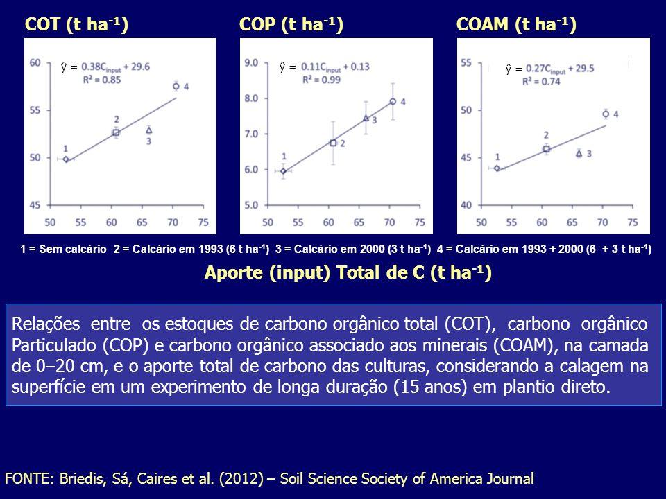 Aporte (input) Total de C (t ha-1)
