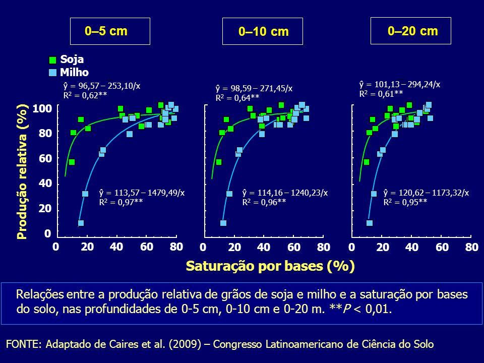 Saturação por bases (%)