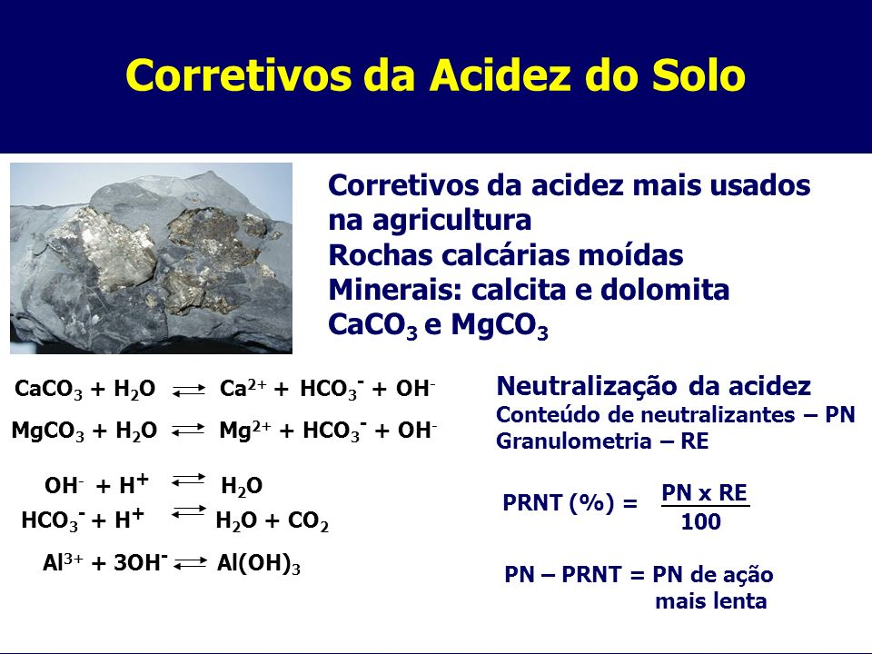 Corretivos da Acidez do Solo