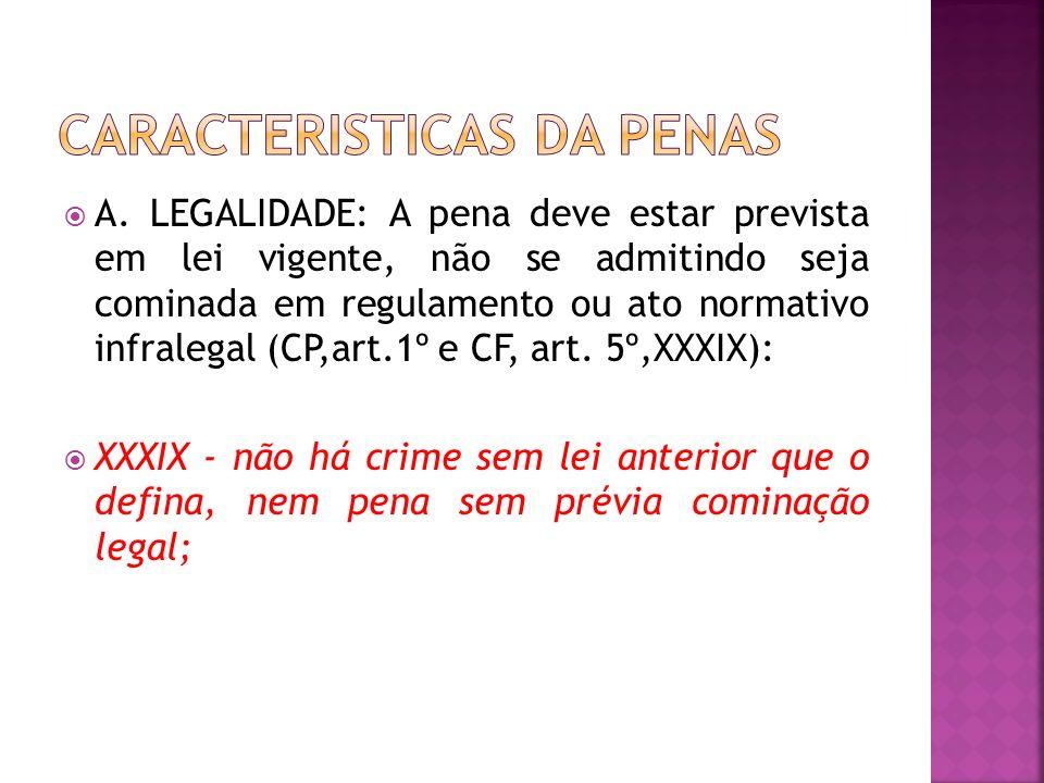 CARACTERISTICAS DA PENAS
