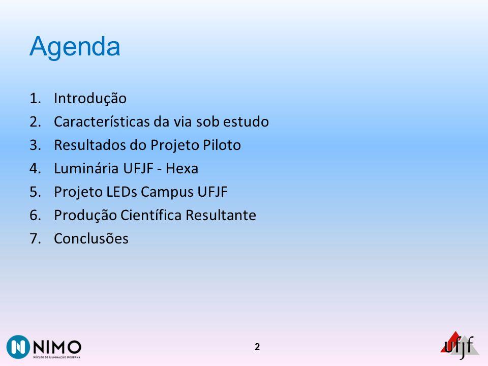 Agenda Introdução Características da via sob estudo
