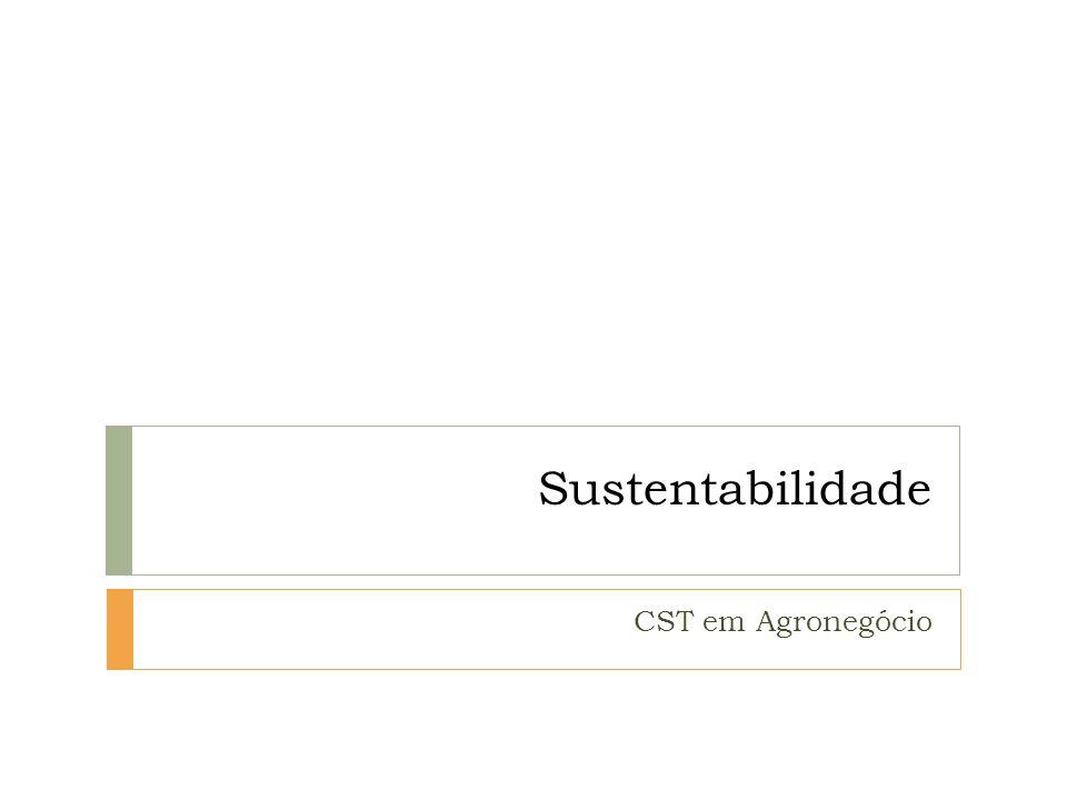 Sustentabilidade CST em Agronegócio
