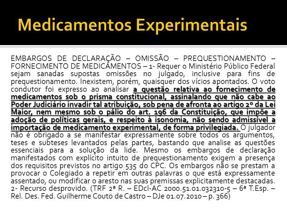 Medicamentos Experimentais
