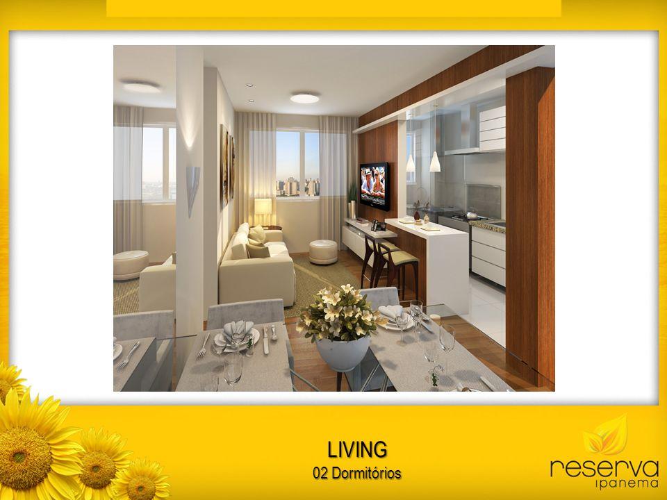 LIVING 02 Dormitórios