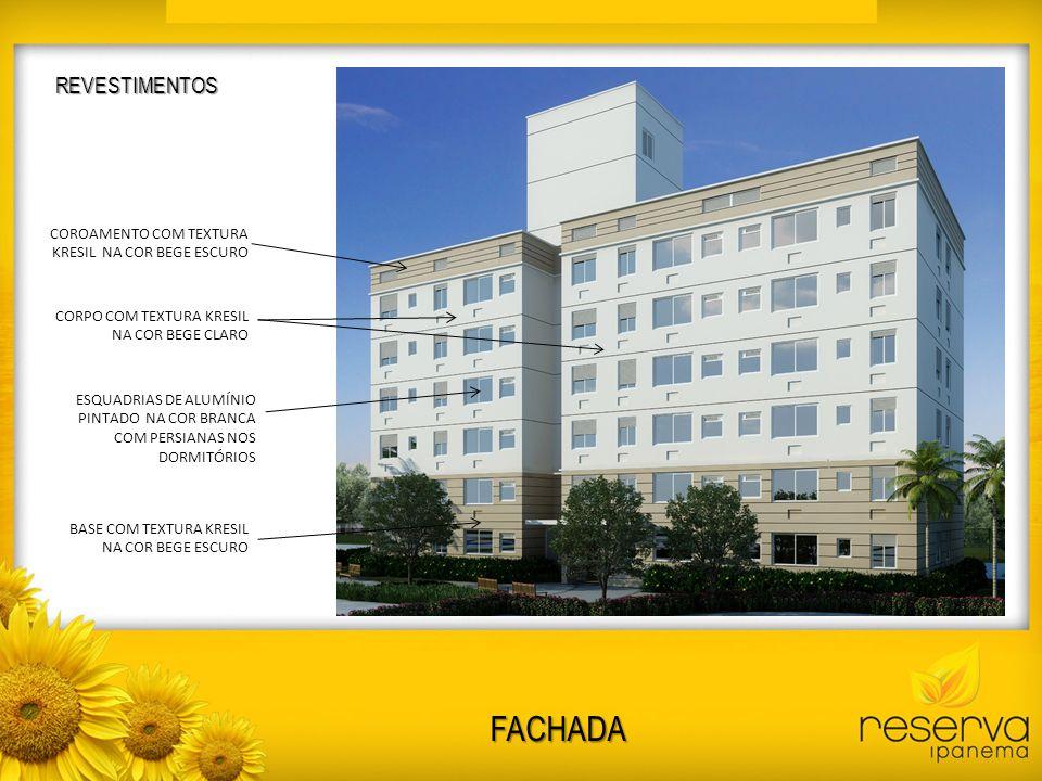 FACHADA REVESTIMENTOS COROAMENTO COM TEXTURA KRESIL NA COR BEGE ESCURO