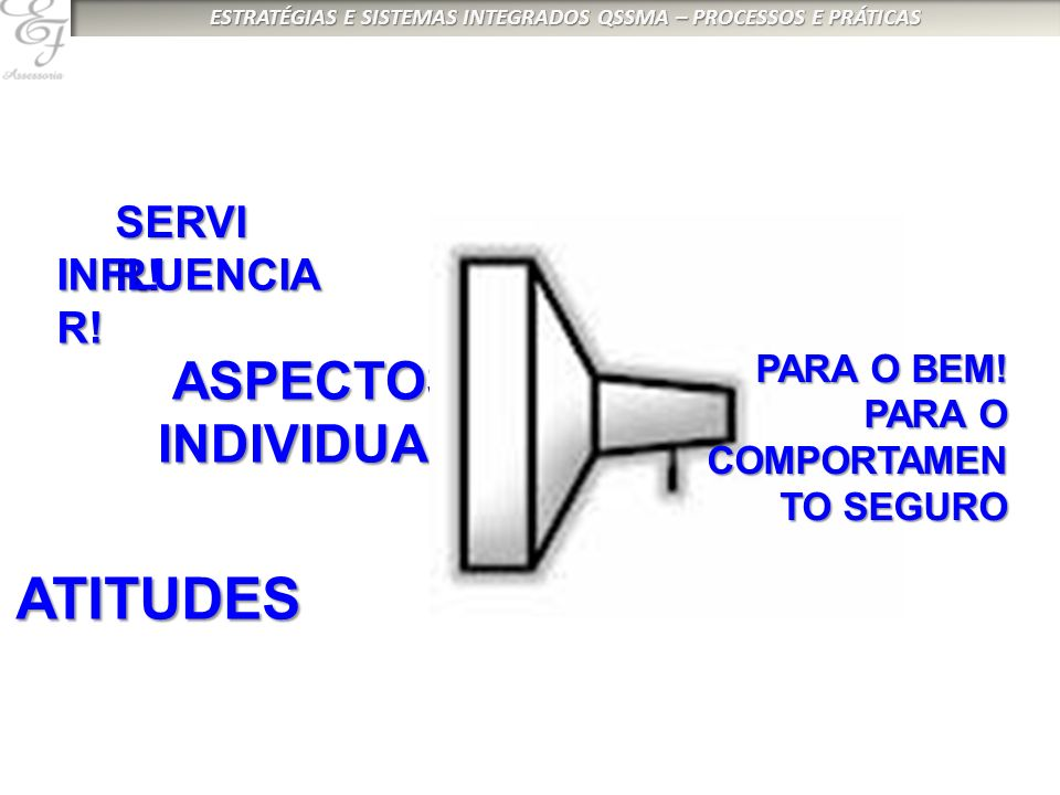 ATITUDES ASPECTOS INDIVIDUAIS SERVIR! INFLUENCIAR! PARA O BEM! PARA O