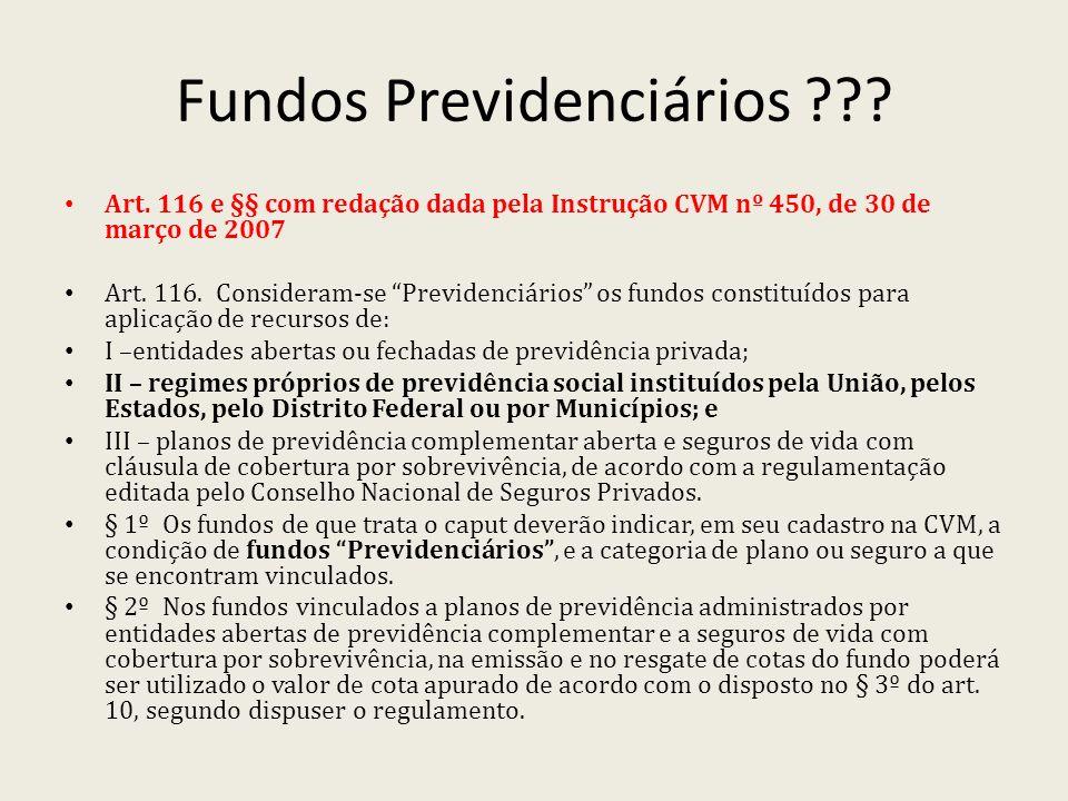 Fundos Previdenciários