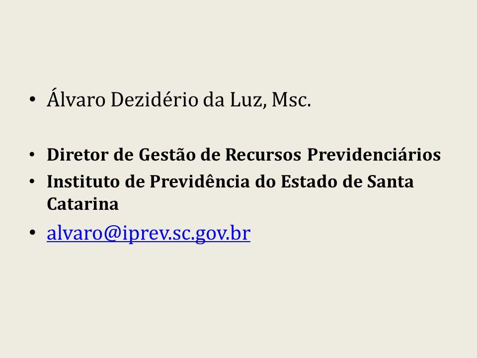 Álvaro Dezidério da Luz, Msc.