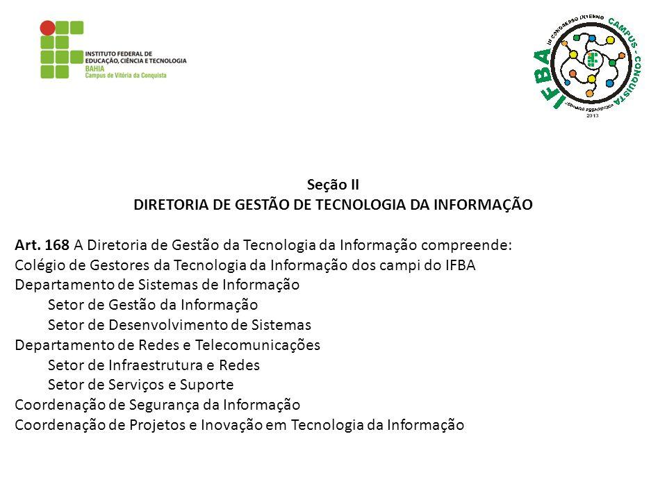 DIRETORIA DE GESTÃO DE TECNOLOGIA DA INFORMAÇÃO