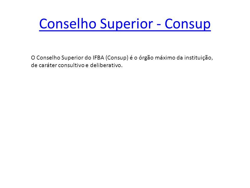 Conselho Superior - Consup